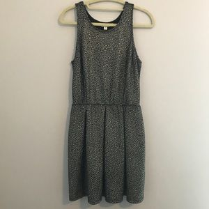Black with Silver/Gold Speckles Dress